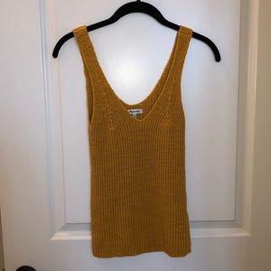 Madewell Mustard Sweater Tank